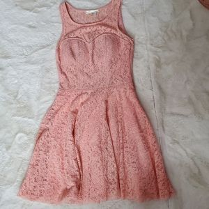 Pniina lace pink skater dress sz S